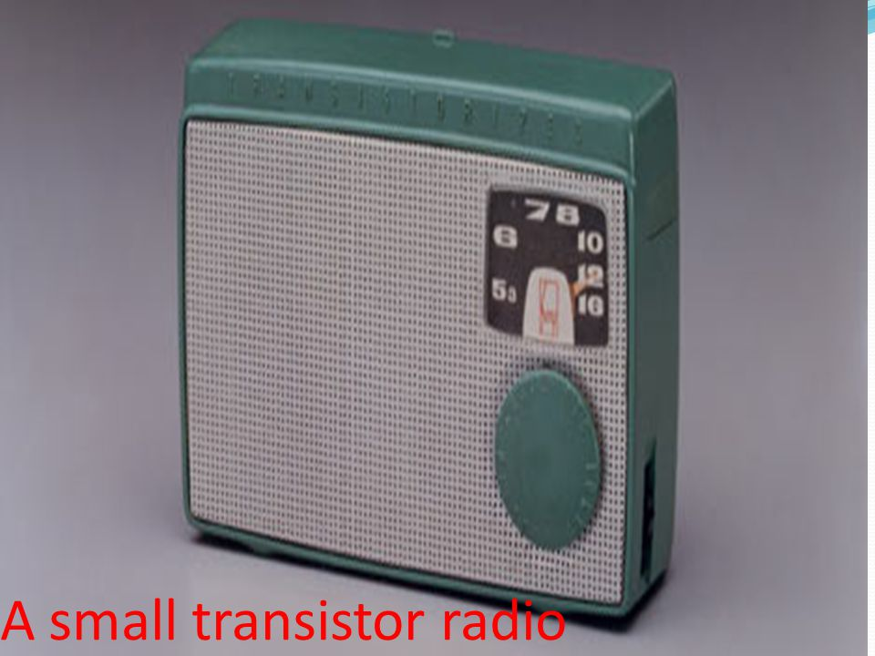 A small transistor radio