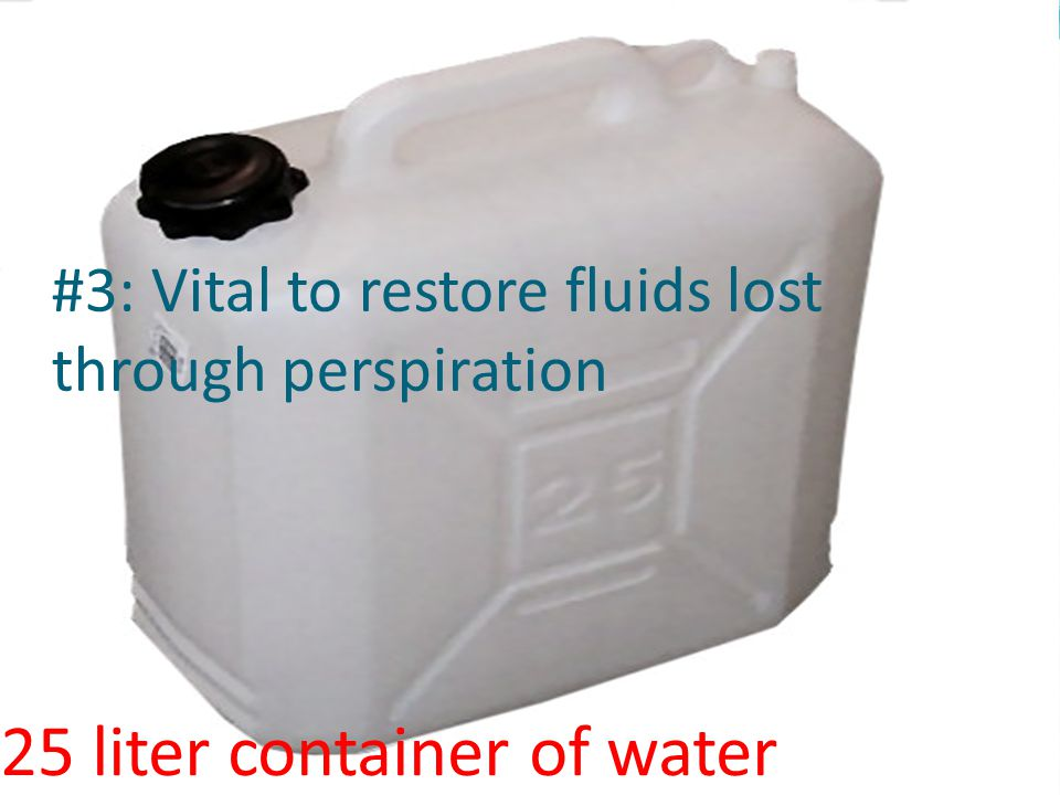 #3: Vital to restore fluids lost through perspiration