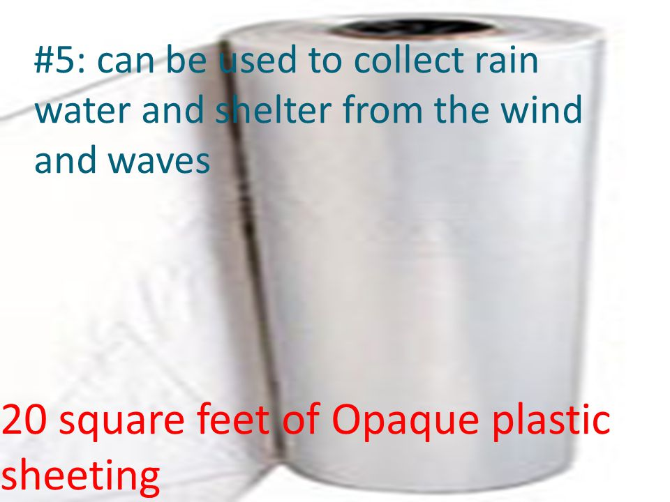 20 square feet of Opaque plastic sheeting