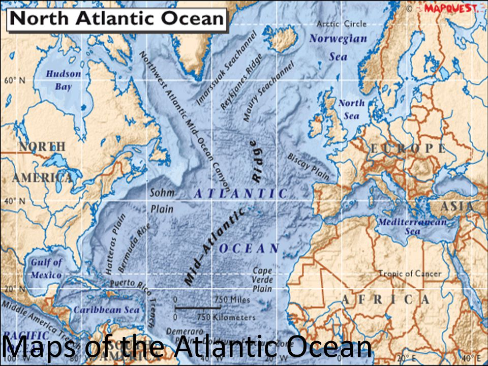 Maps of the Atlantic Ocean