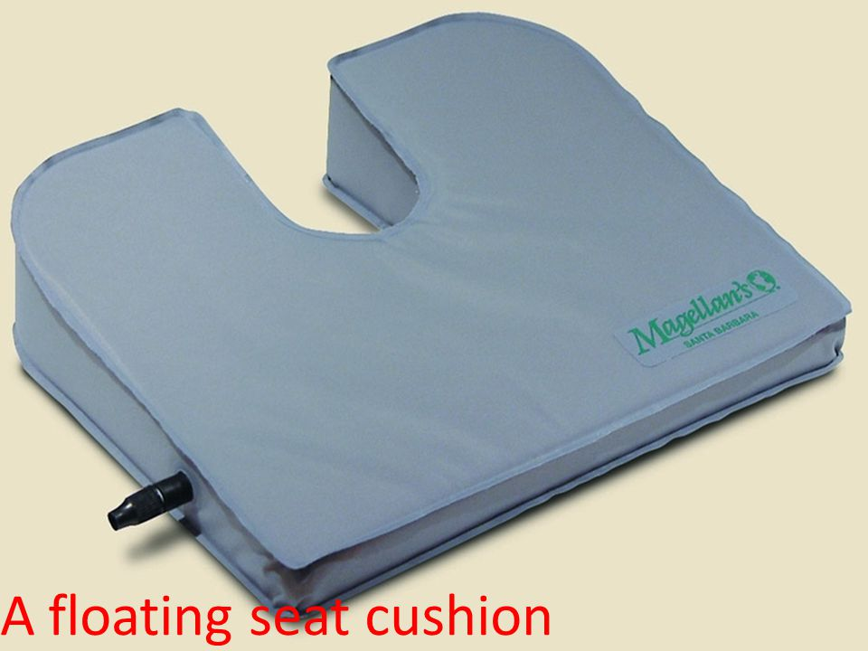 A floating seat cushion