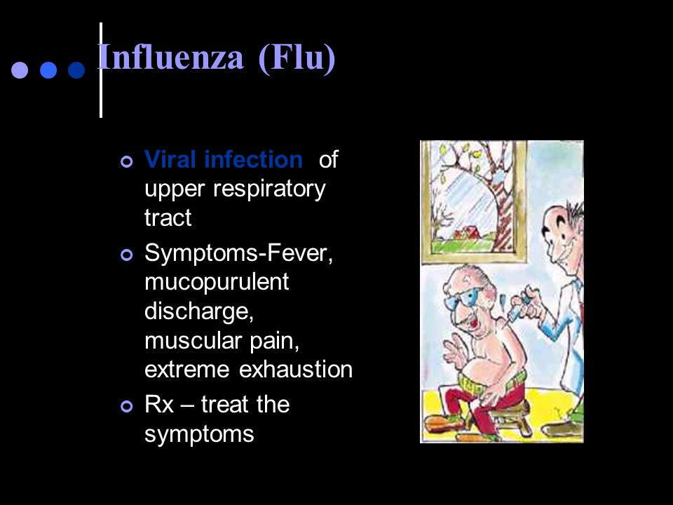 Influenza (Flu) Viral infection of upper respiratory tract