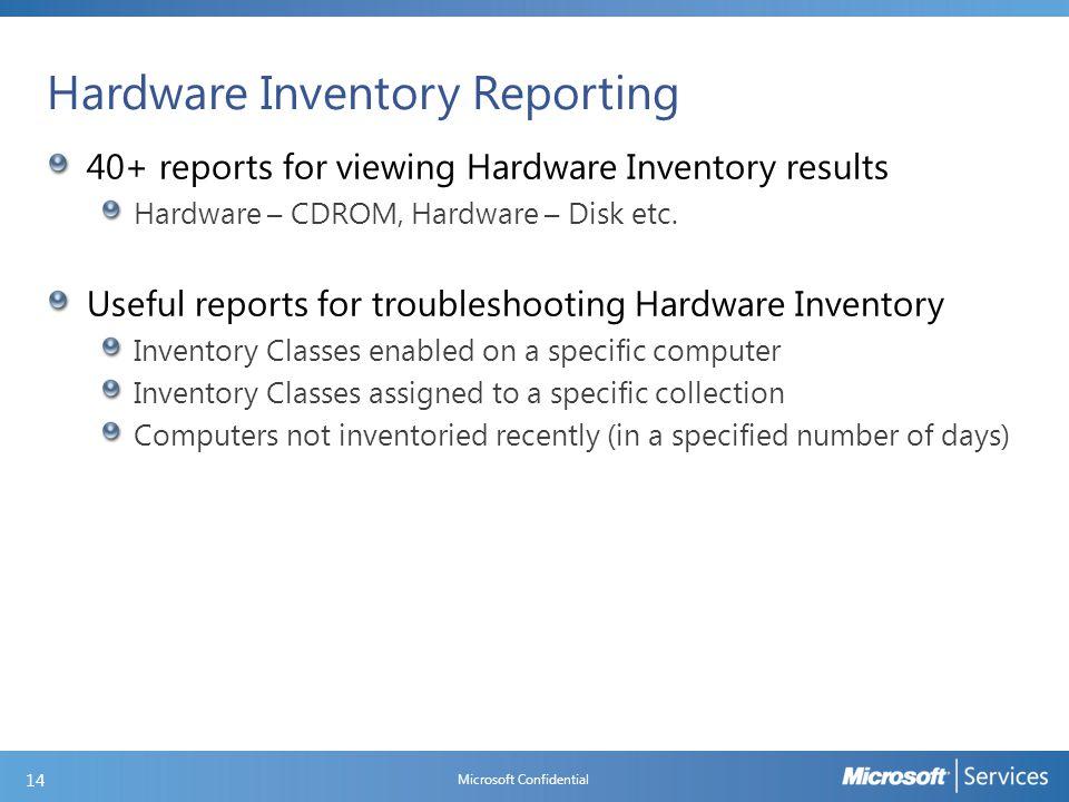 Software Inventory Components and Logs
