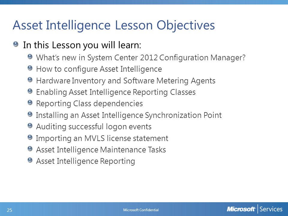 What is New in Asset Intelligence