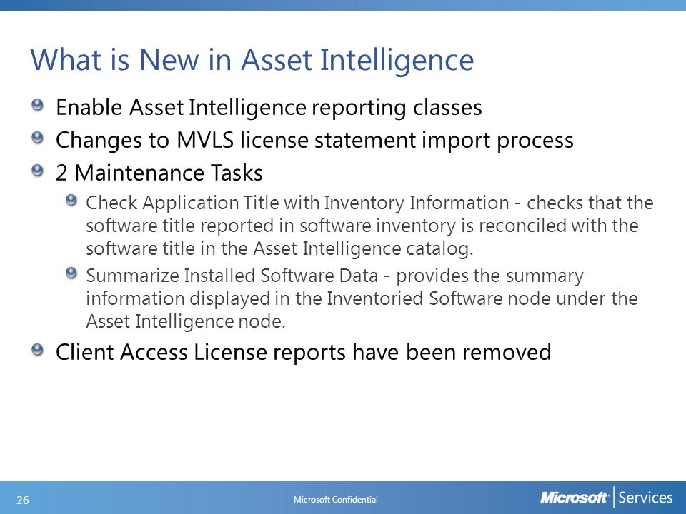 How to configure Asset Intelligence