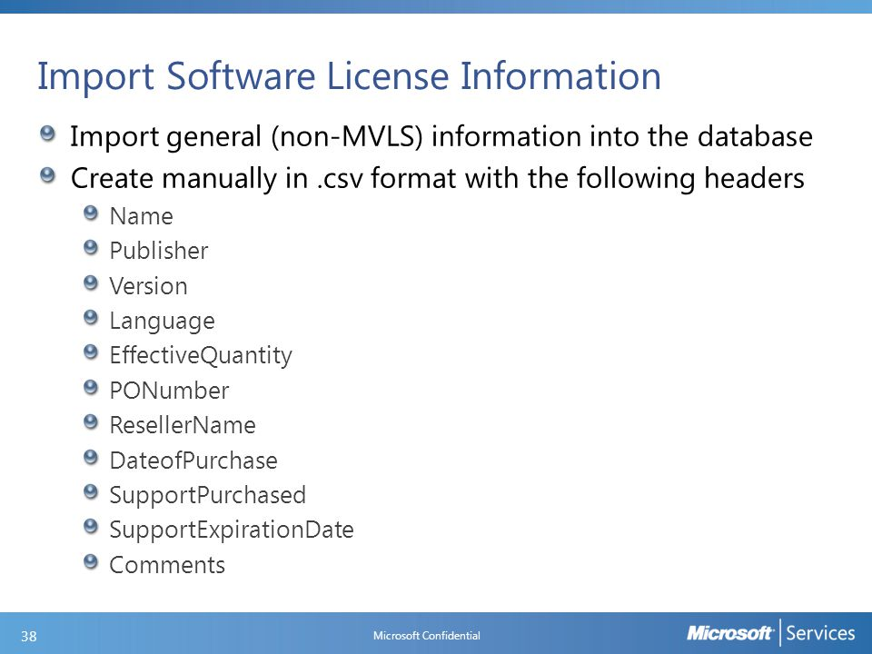 Importing an MVLS License Statement