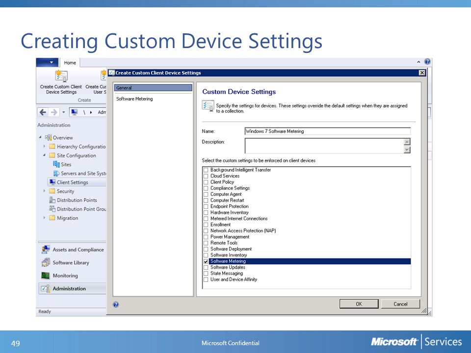 Creating Custom Device Settings