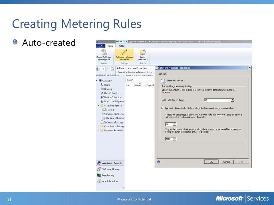 Creating Metering Rules