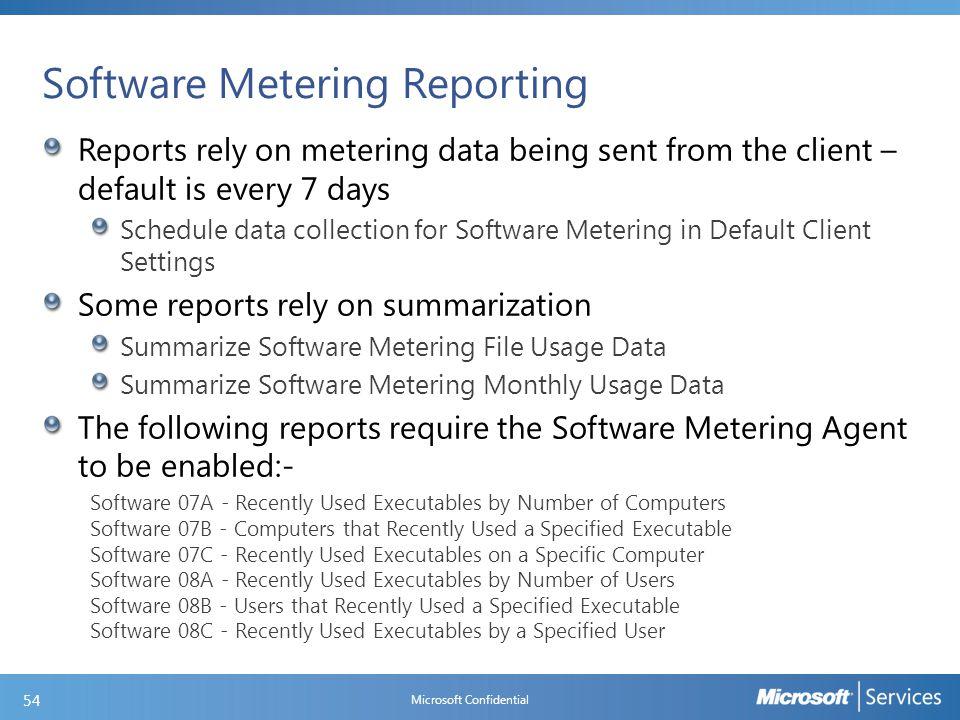 Software Metering Reports