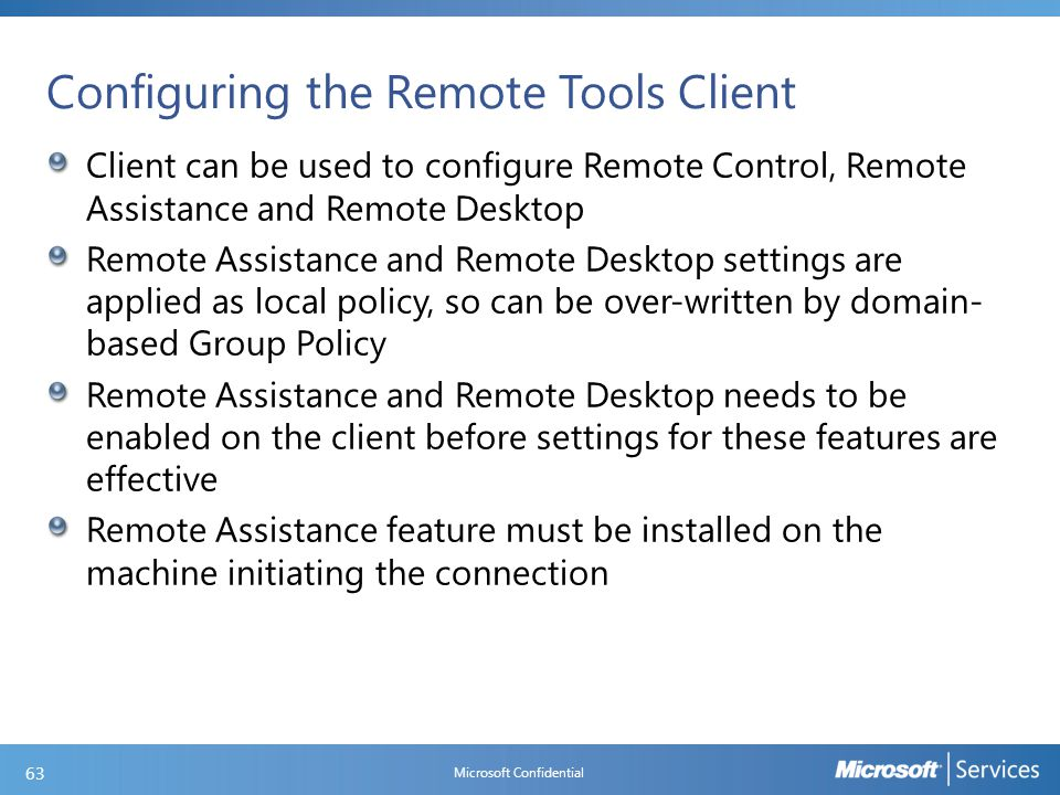 Remote Control Client Settings