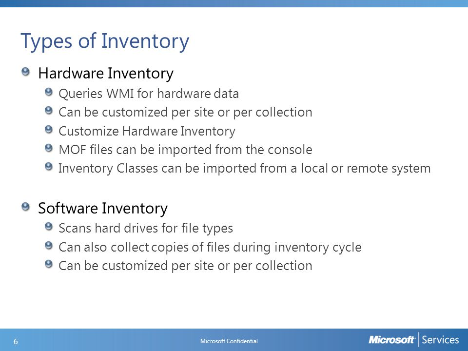 Hardware Inventory Components and Logs