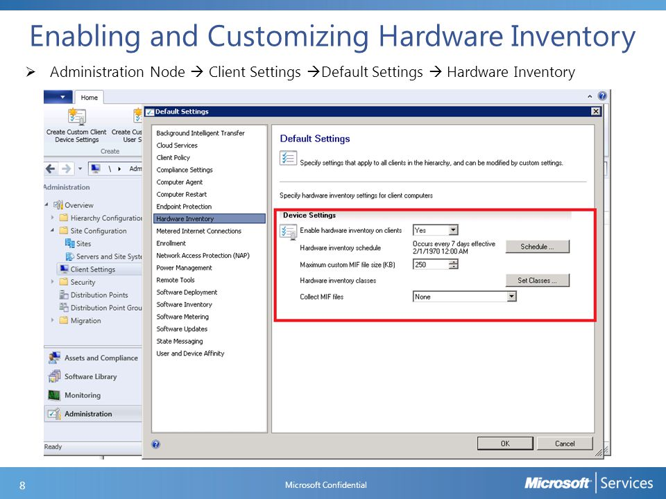 Enabling and Customizing Hardware Inventory