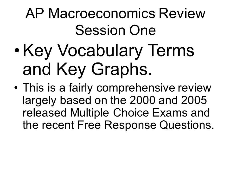 AP Macroeconomics Review Session One