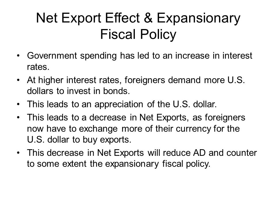 Net Export Effect & Expansionary Fiscal Policy