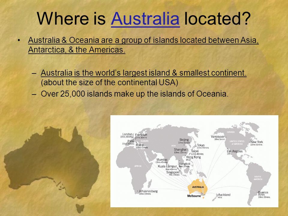 Where is Australia located