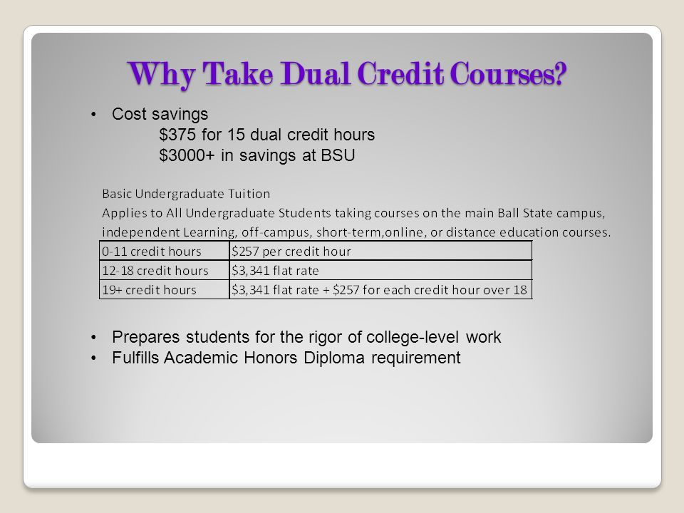 Why Take Dual Credit Courses