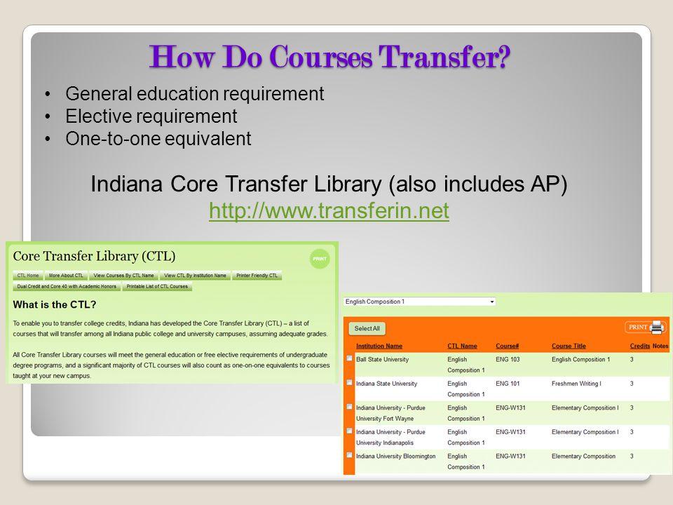 How Do Courses Transfer