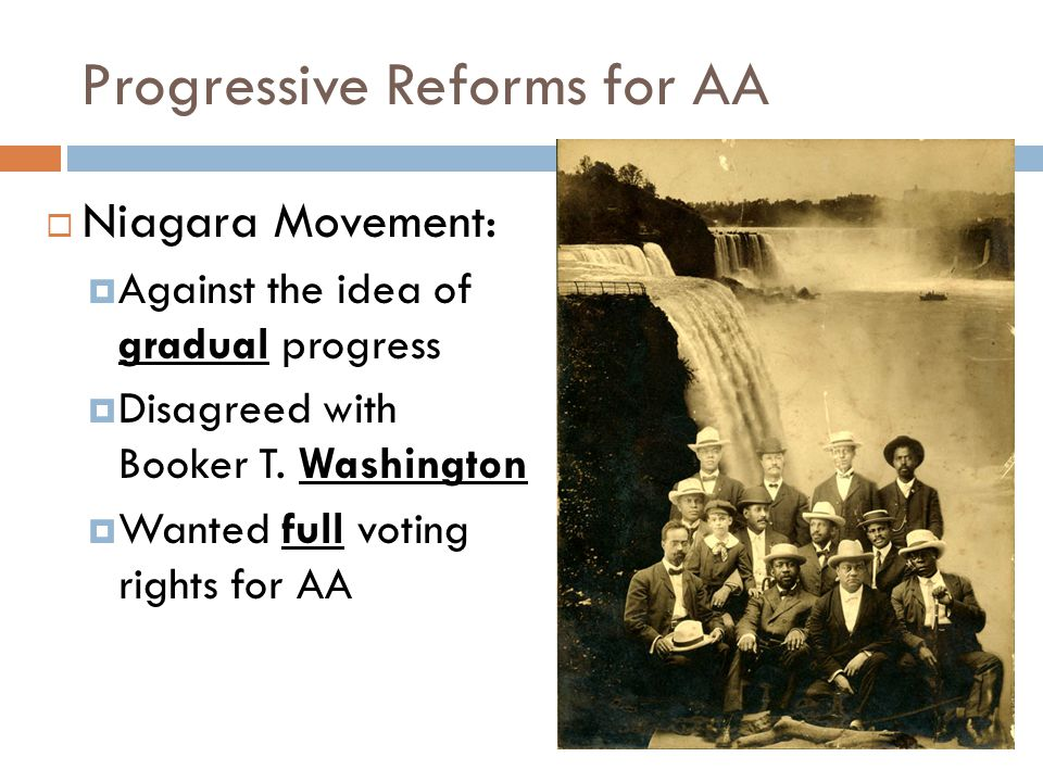 Progressive Reforms for AA