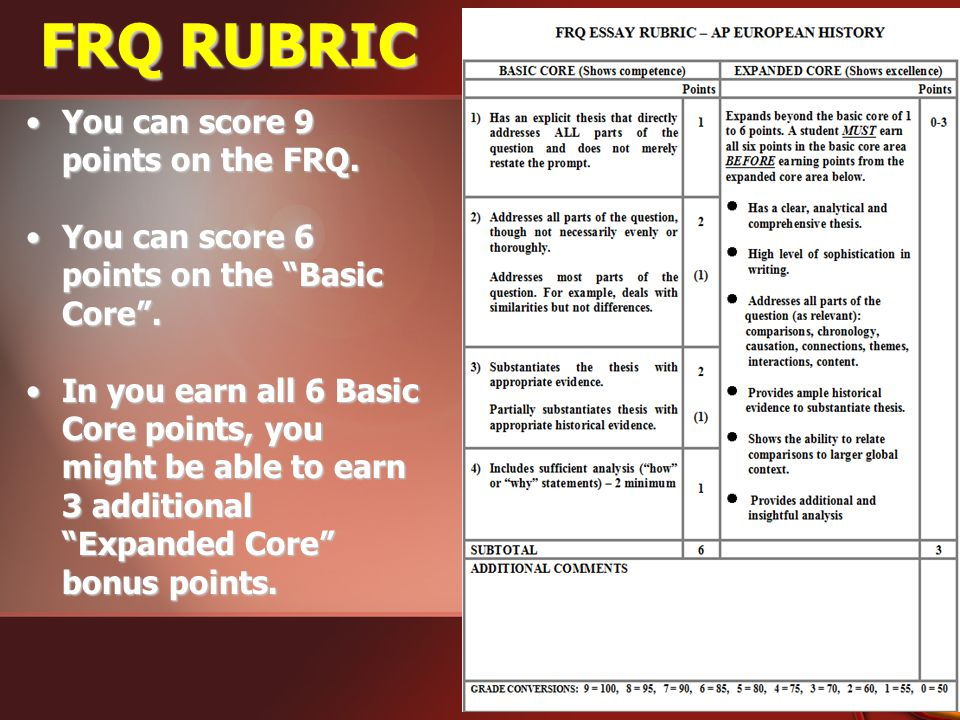 Cause Effect Essay Rubric