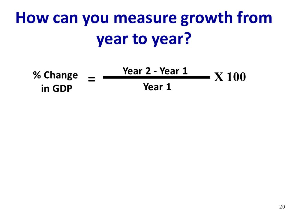 How can you measure growth from year to year