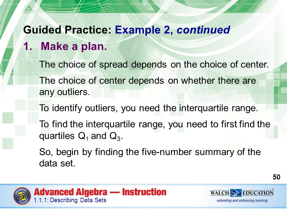 Guided Practice: Example 2, continued Make a plan.