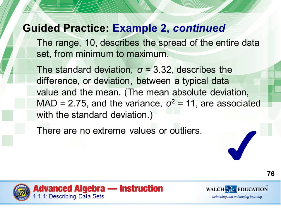 ✔ Guided Practice: Example 2, continued
