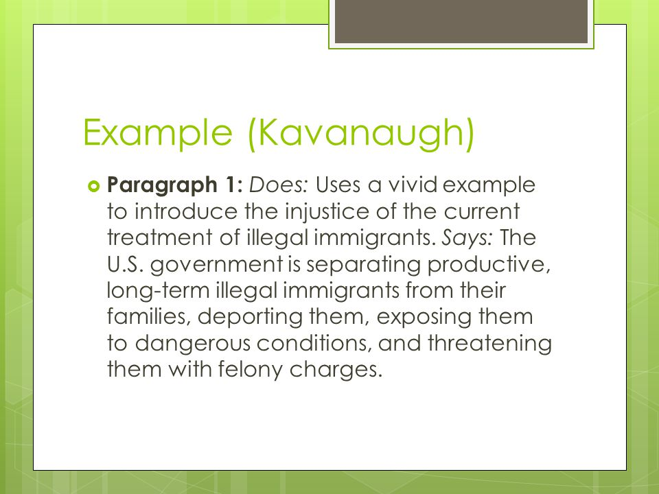 Example (Kavanaugh)