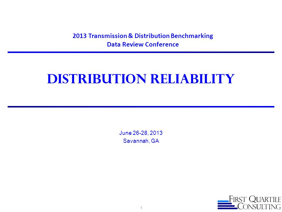 Distribution reliability