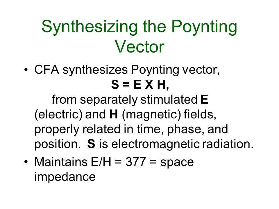 Synthesizing the Poynting Vector