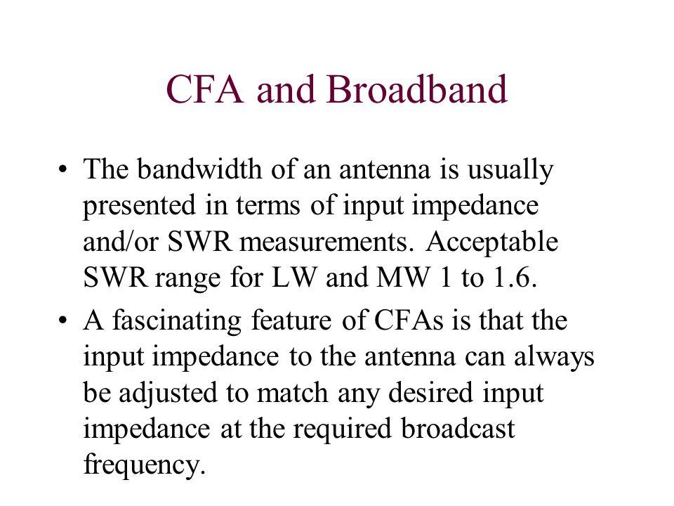 CFA and Broadband