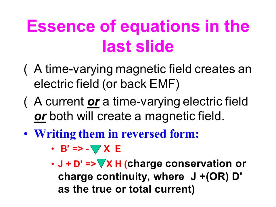Essence of equations in the last slide