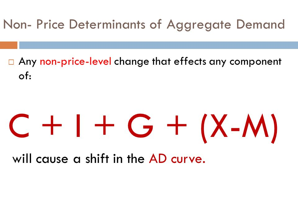 Non- Price Determinants of Aggregate Demand