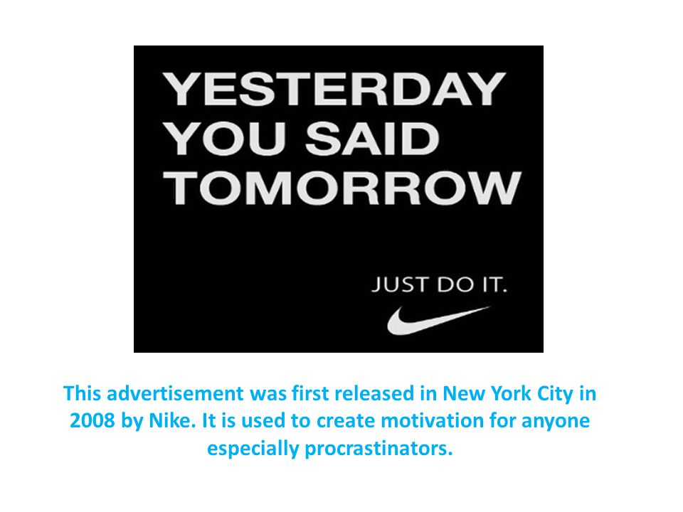 This advertisement was first released in New York City in 2008 by Nike