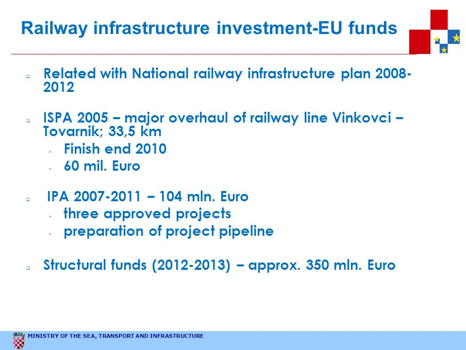 Railway infrastructure investment-EU funds