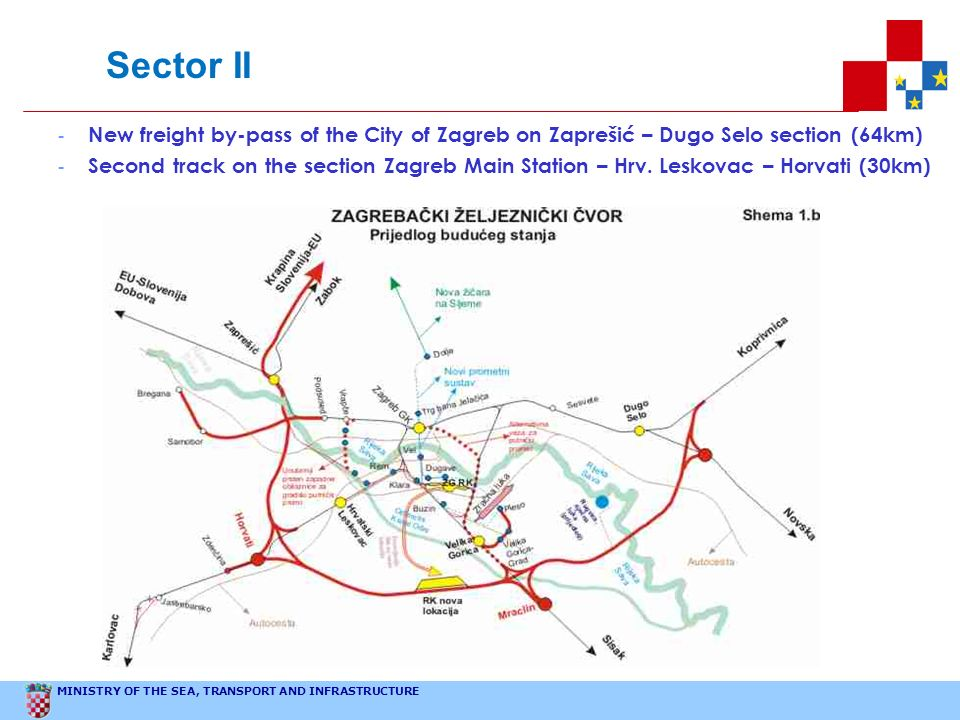 Sector IINew freight by-pass of the City of Zagreb on Zaprešić – Dugo Selo section (64km)