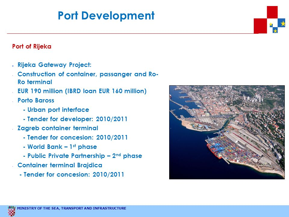 Port Development Port of Rijeka Rijeka Gateway Project: