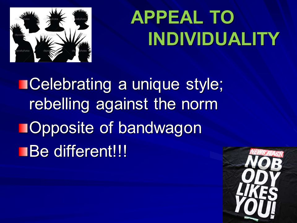 APPEAL TO INDIVIDUALITY