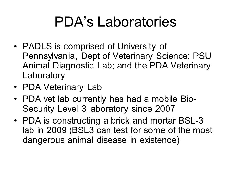 PDA's Laboratories