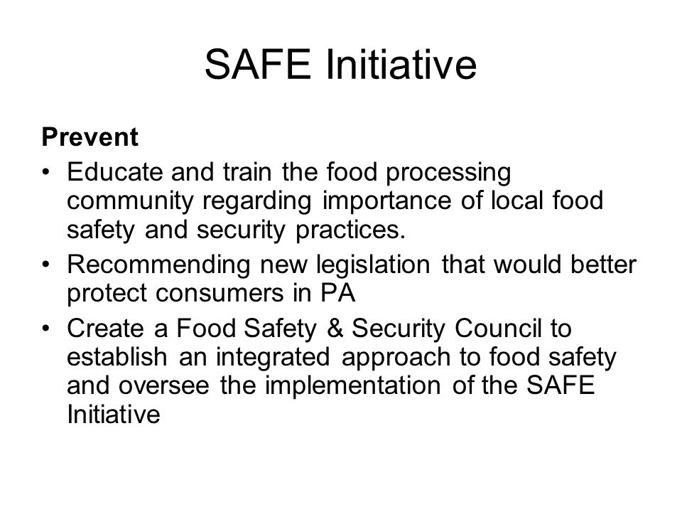 SAFE Initiative Prevent
