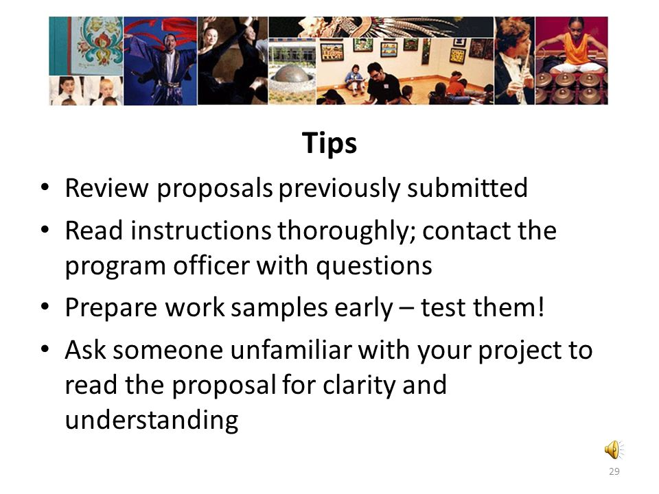 Tips Review proposals previously submitted