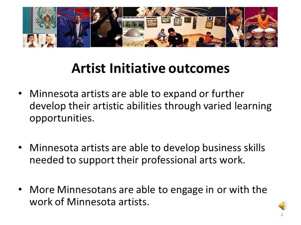 Artist Initiative outcomes