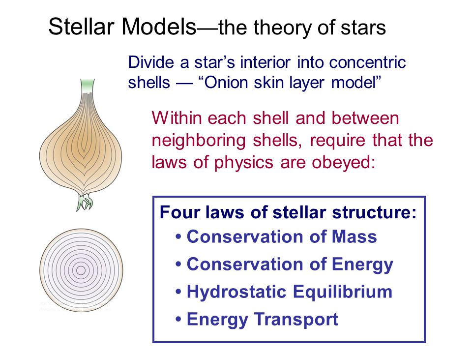 Stellar Models—the theory of stars