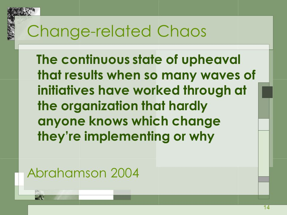 Change-related Chaos