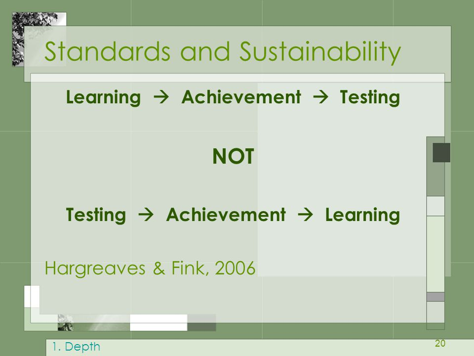Standards and Sustainability