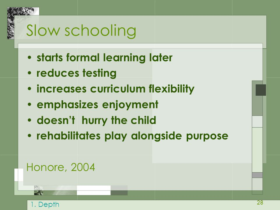 Slow schooling starts formal learning later reduces testing