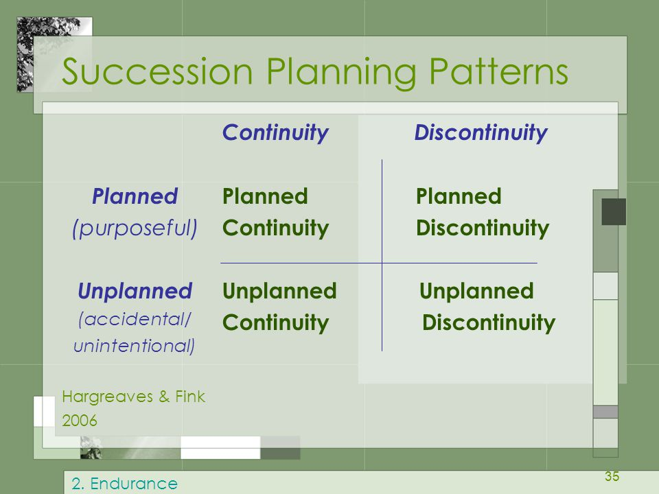 Succession Planning Patterns