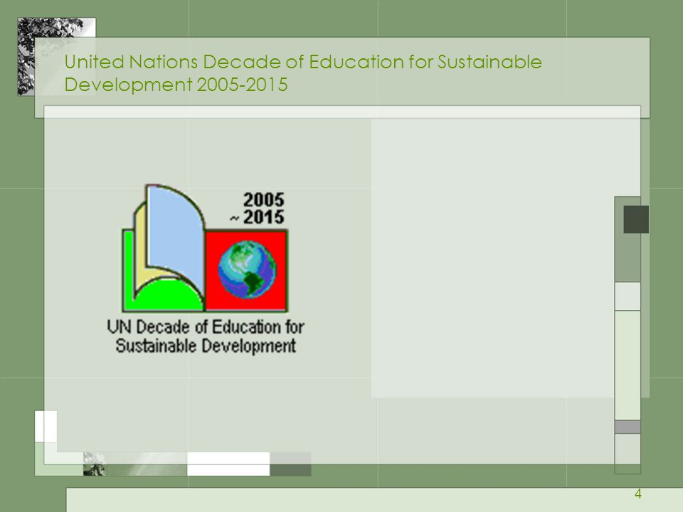 United Nations Decade of Education for Sustainable Development 2005-2015