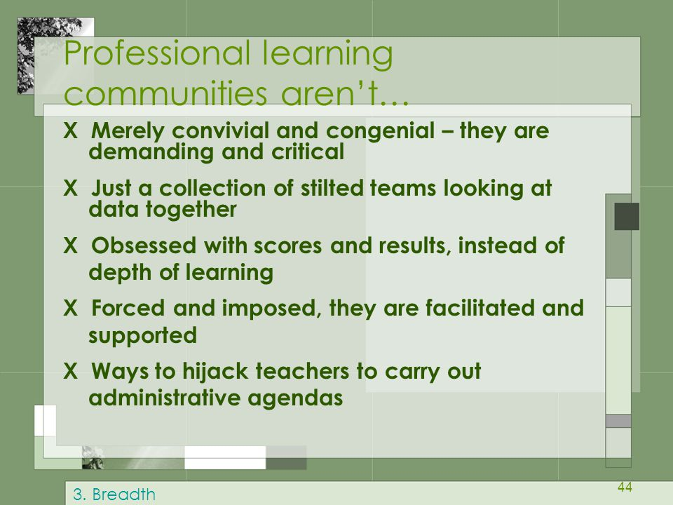 Professional learning communities aren't…