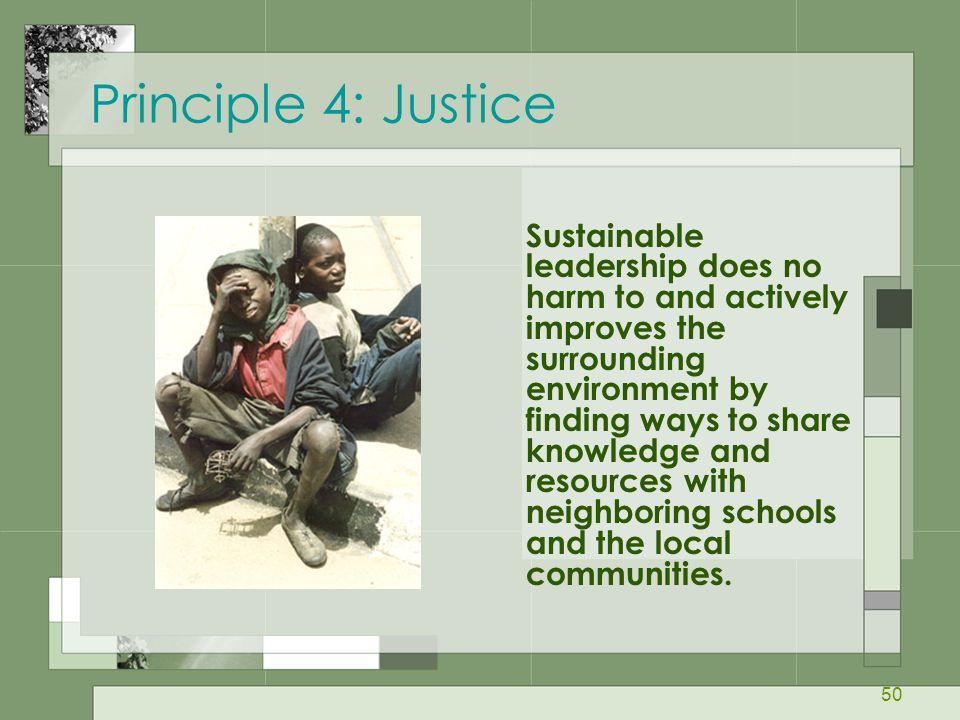 Principle 4: Justice