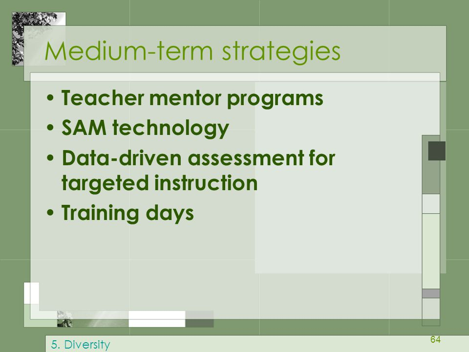Medium-term strategies